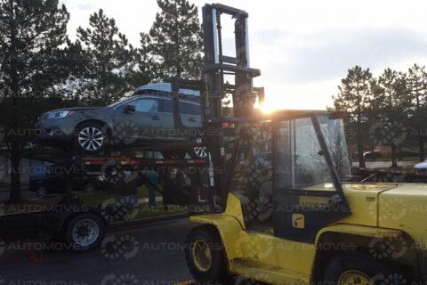 Unloading Salvage Vehicle Toronto